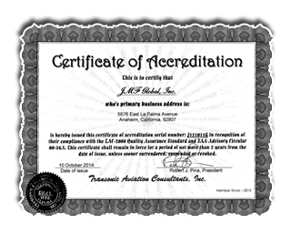 Certifacation of Accredation